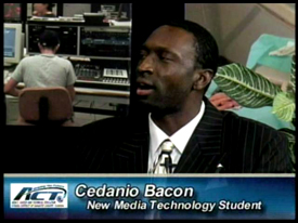 Cedanio Bacon student of Arts, Audio Visual Technology and Communications