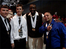 MTI students Cory Barringer, Ben Galat, Cedanio Bacon, and Ricardo Fontanez, win first place in the Florida Skills USA State Conference 2011